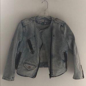 Gap stonewash crop denim jacket